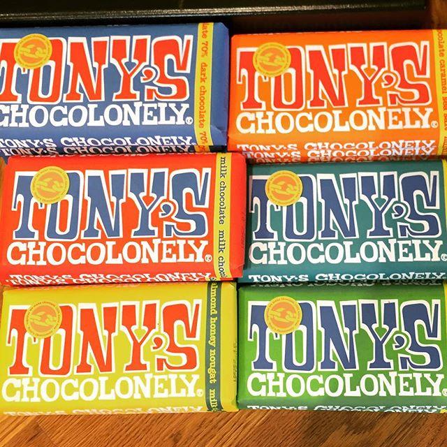 Nu är de här igen, den 100% slavfria underbara goda chokladen från TONYS. #slavfri #tonyschocolonely #materiamajorna