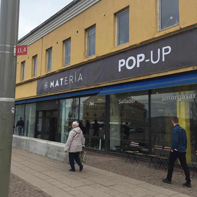 Nu har vi öppnat popup Materia. Välkomna #popup #öppet