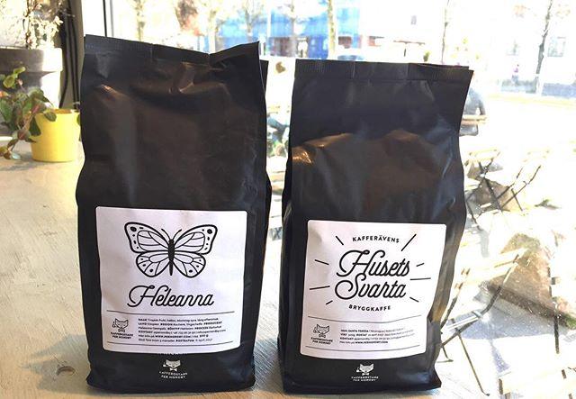 Dagens brygg! Heleanna ett fruktigt, bärigt och blommigt kaffe från Yirgacheffe i Etiopien.  Husets Svarta ett fylligare kaffe med toner av choklad och nötter. Från Santa Teresa i Nicaragua. Båda kaffena är rostade av Per Nordby. #bryggkaffe #materiamajorna #pernordby