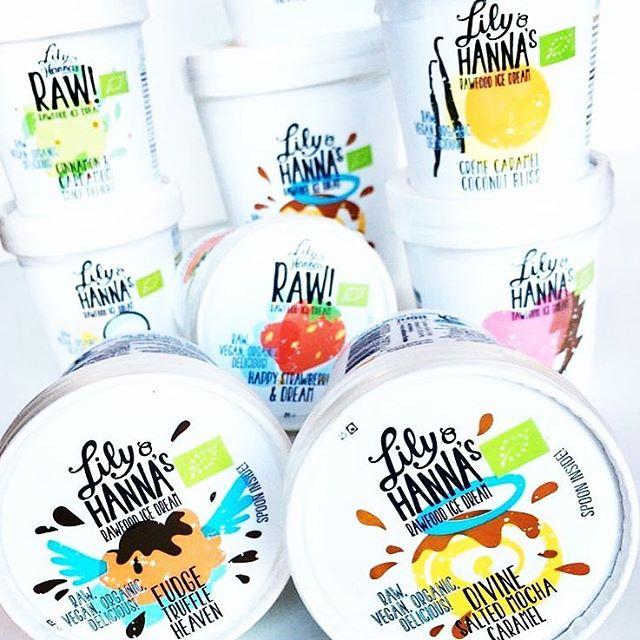 Vi har nu alla 7 sorter av Lily & Hanna's rawfoodglassar. Vilken är din favorit?