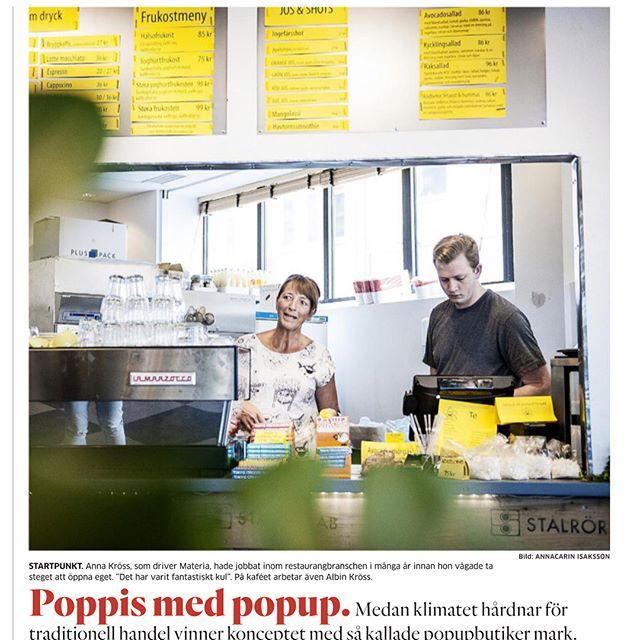 Kul artikel i GP idag om Materia Popup och popupfenomenet