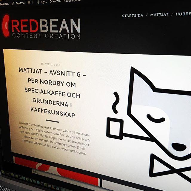 Nu finns ett nytt avsnitt av Mattjat att lyssna på.  Podcasten besöker Per Nordbys rosteri och pratar speciallagar och grunderna i kaffekunskap. Sök efter Mattjat i din podcastapp eller lyssna på https://redbean.se