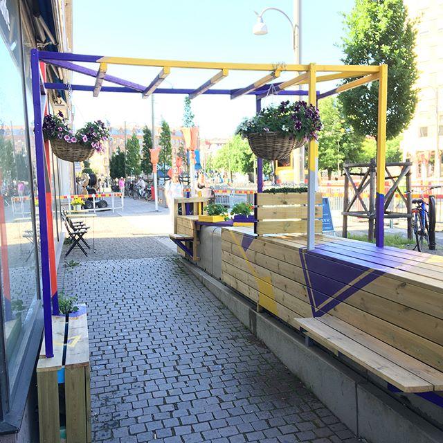 Vår nya uteservering är nu på plats på Järntorgsgatan. Välkommen!