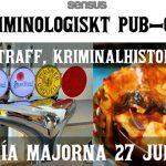 På torsdag kl. 18:00 blir det kriminologisk pubquiz med levande musik på Matería Majorna. Öl, vin, bubbel, kaffe, latte, pizza, lasagne, chokladbollar och massa goda saker. Välkomna!⠀⠀https://www.facebook.com/events/285269125575397/